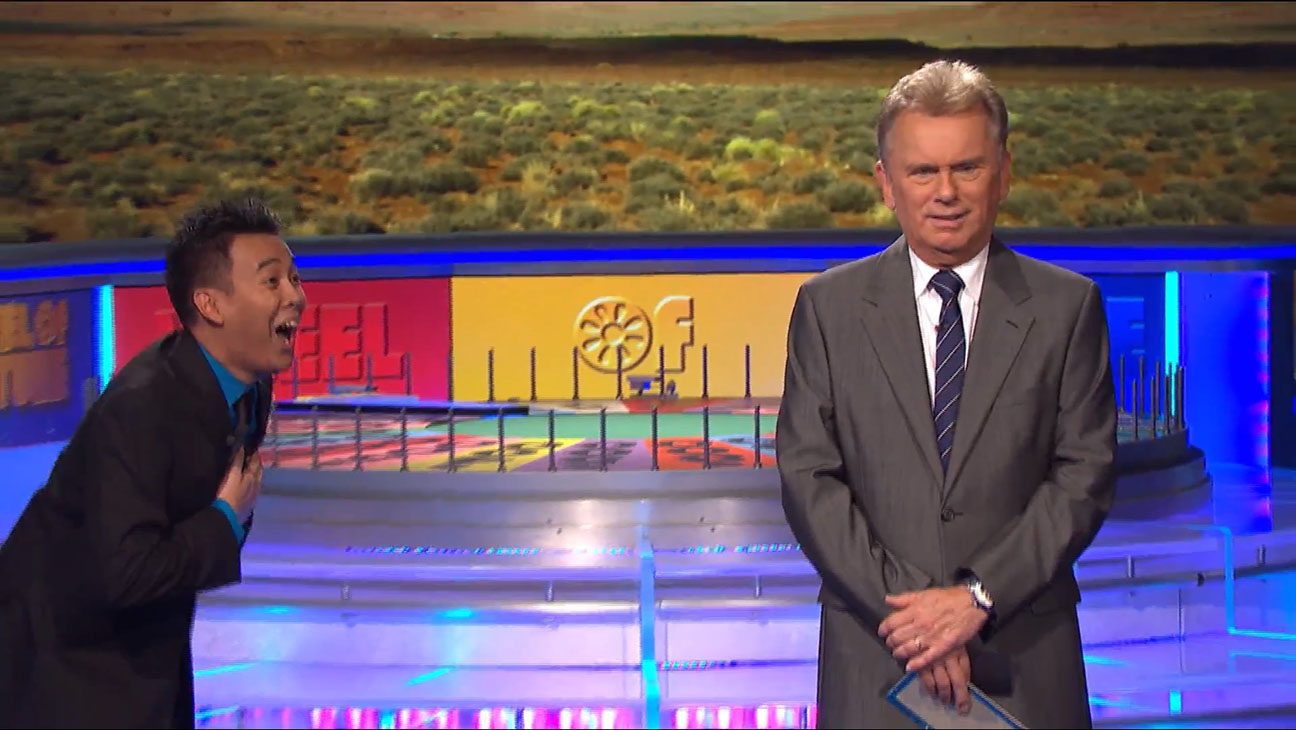 Wheel Of Fortune Host Pat Sajak Stunned After Contestant Guesses Nearly Impossible Puzzle Video Hollywood Reporter