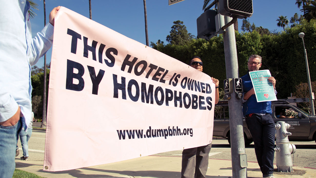 Beverly Hills Protest Sign - H 2014