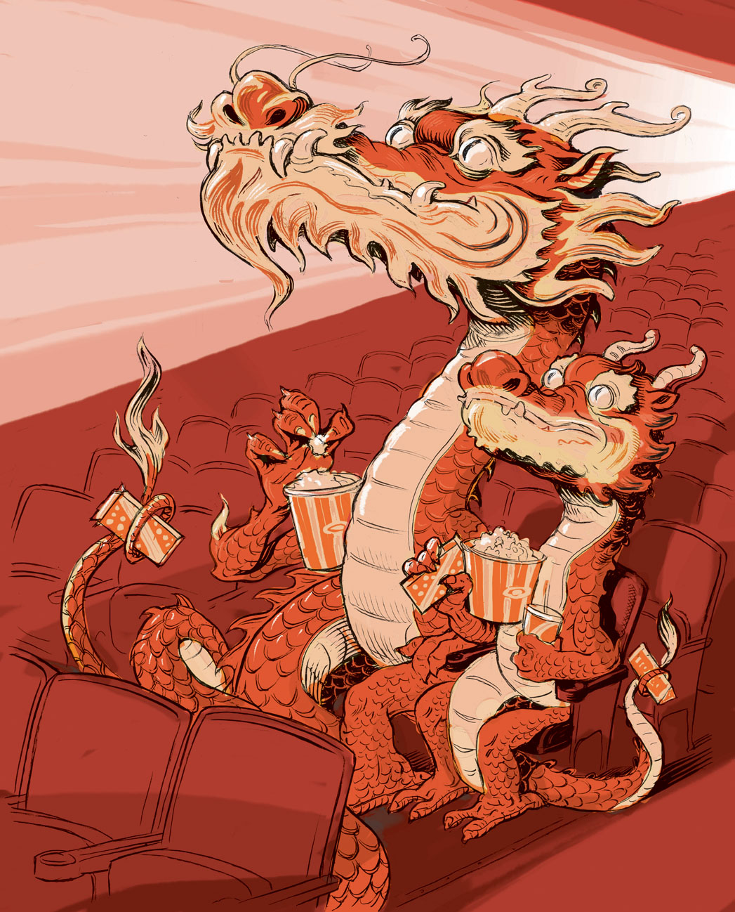 China Dragons Illustration - P 2014