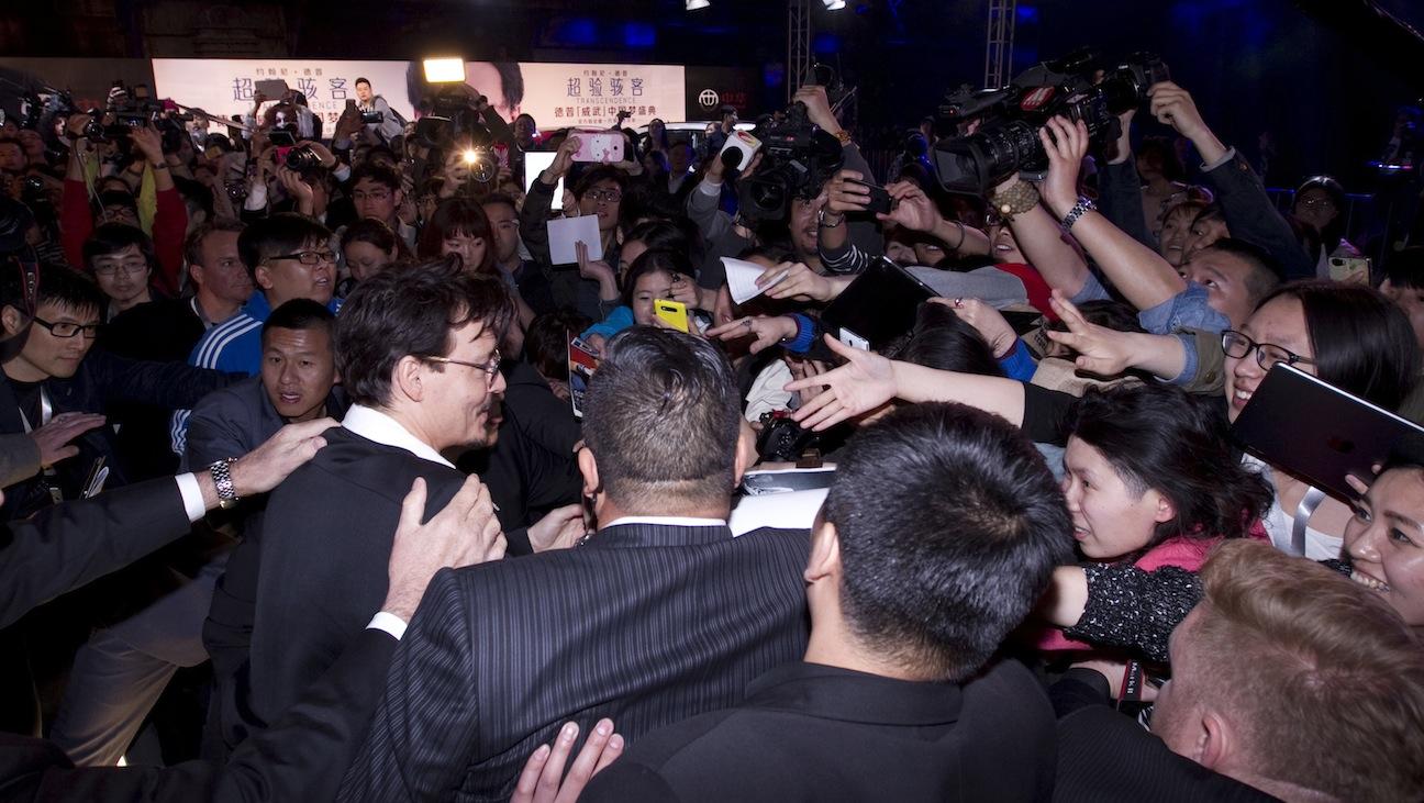 Johnny Depp in Beijing - H 2014