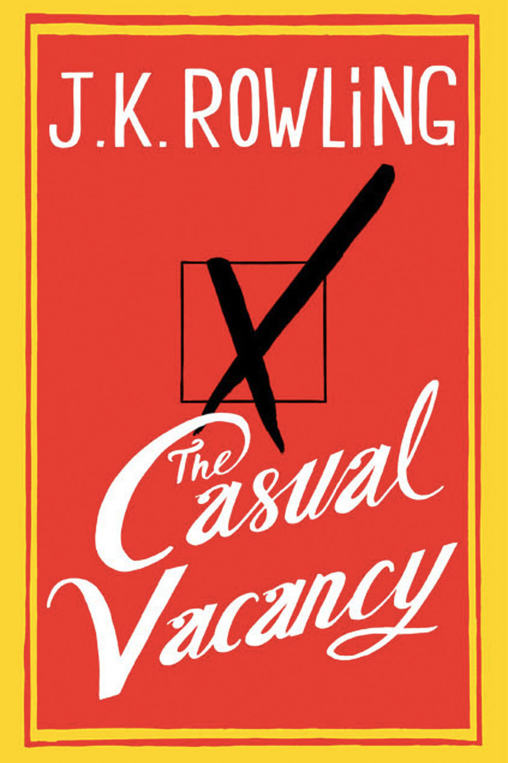 The Casual Vacancy Book Cover - P 2014