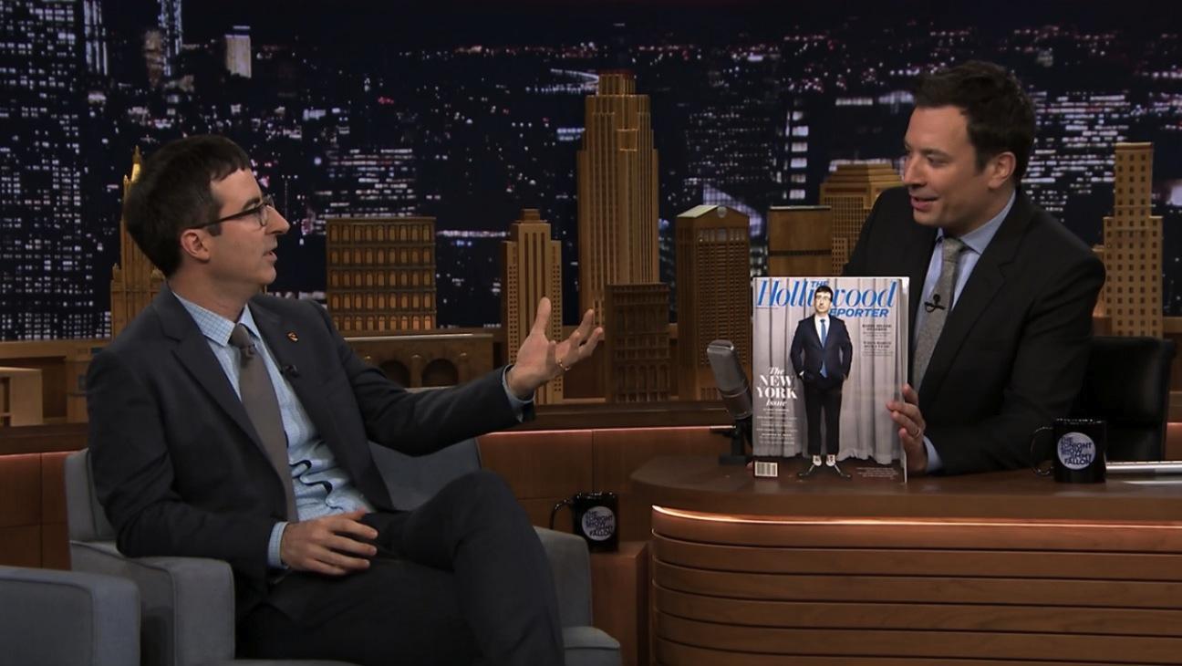John Oliver on Fallon Celebrating THR Cover - H