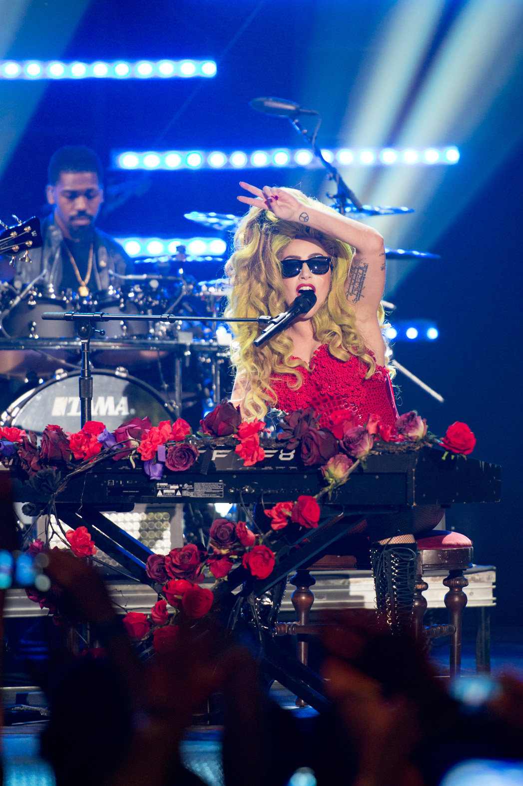 Lady Gaga Performing at Roseland Ballroom Late Night - P 2014