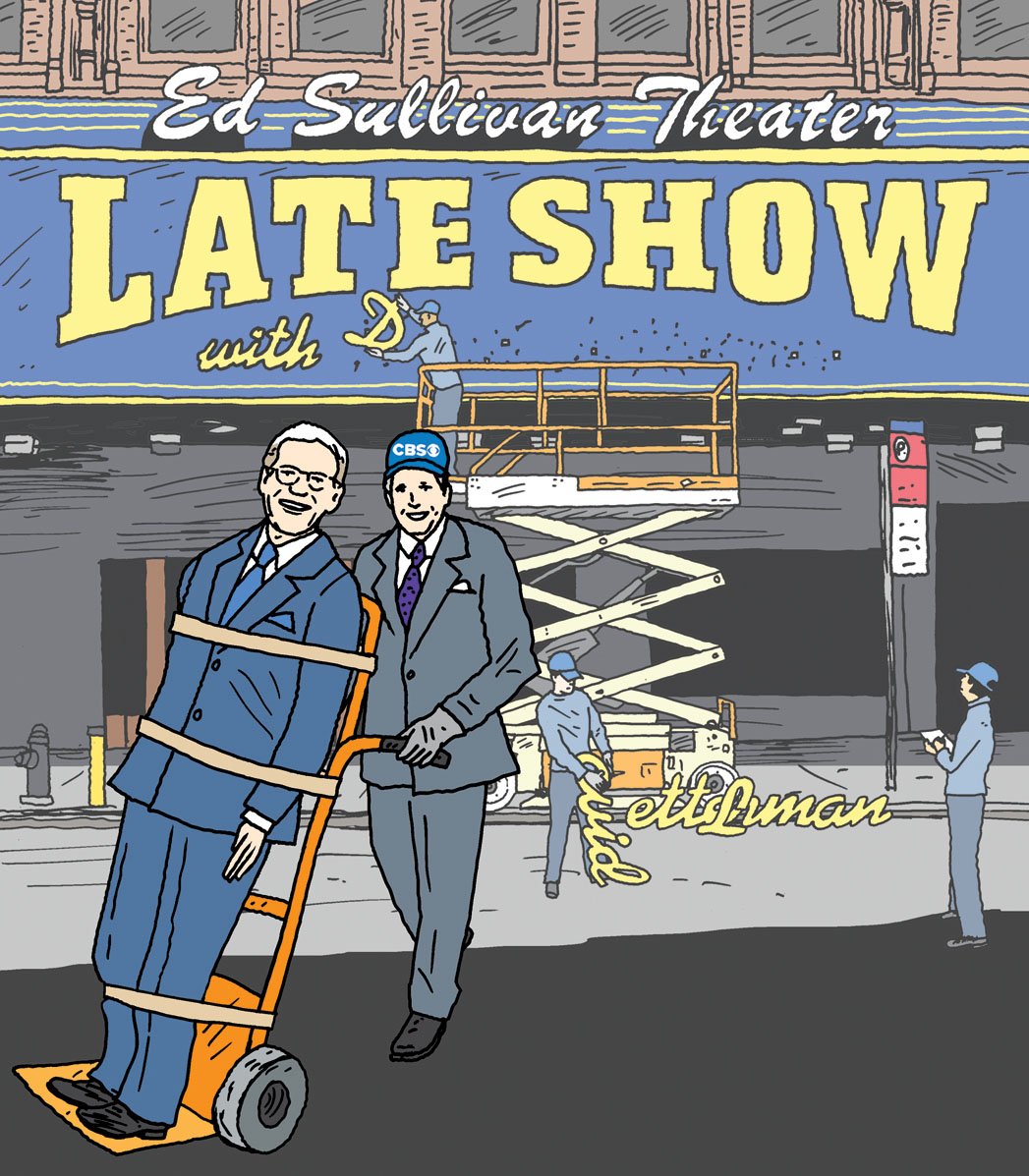 David Letterman Illustration - P 2014