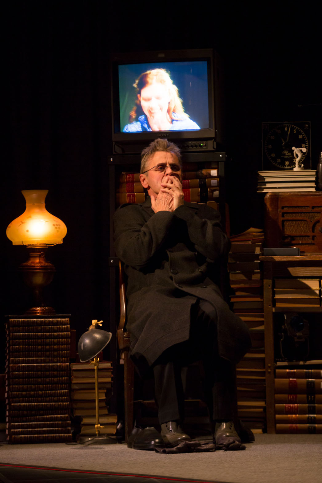 Man in a Case Theater Still - P 2014