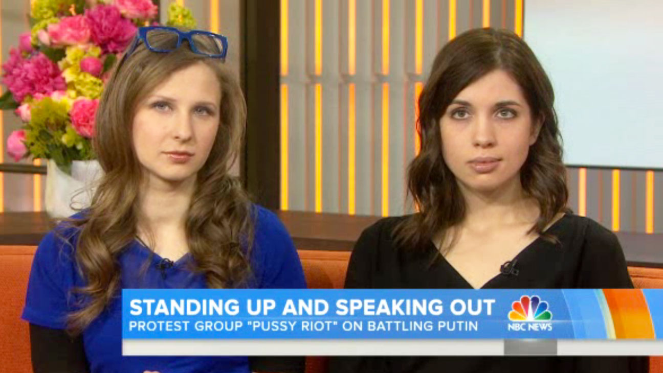 Pussy Riot on Today Screengrab - H 2014