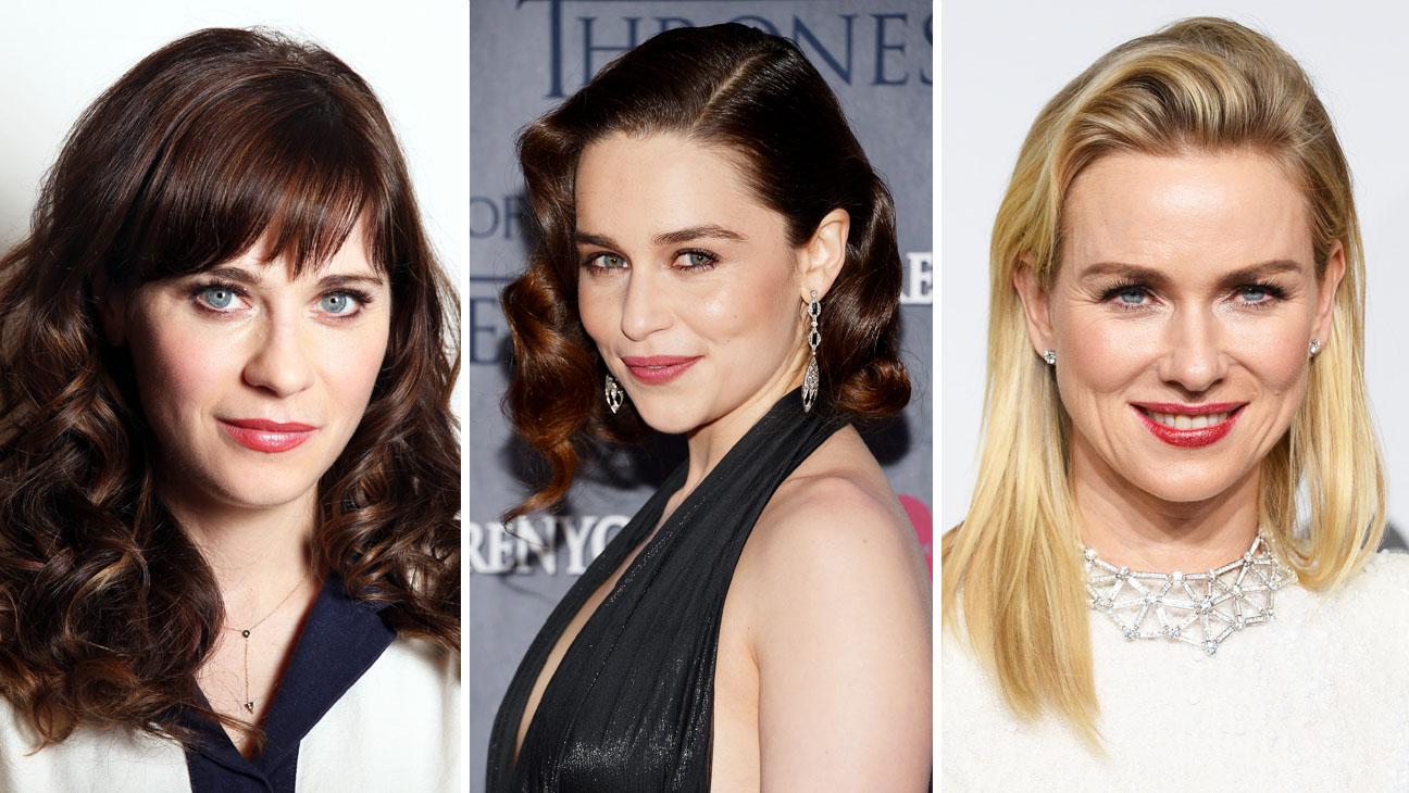 Zooey Deschanel Emilia Clarke Naomi Watts Split - H 2014