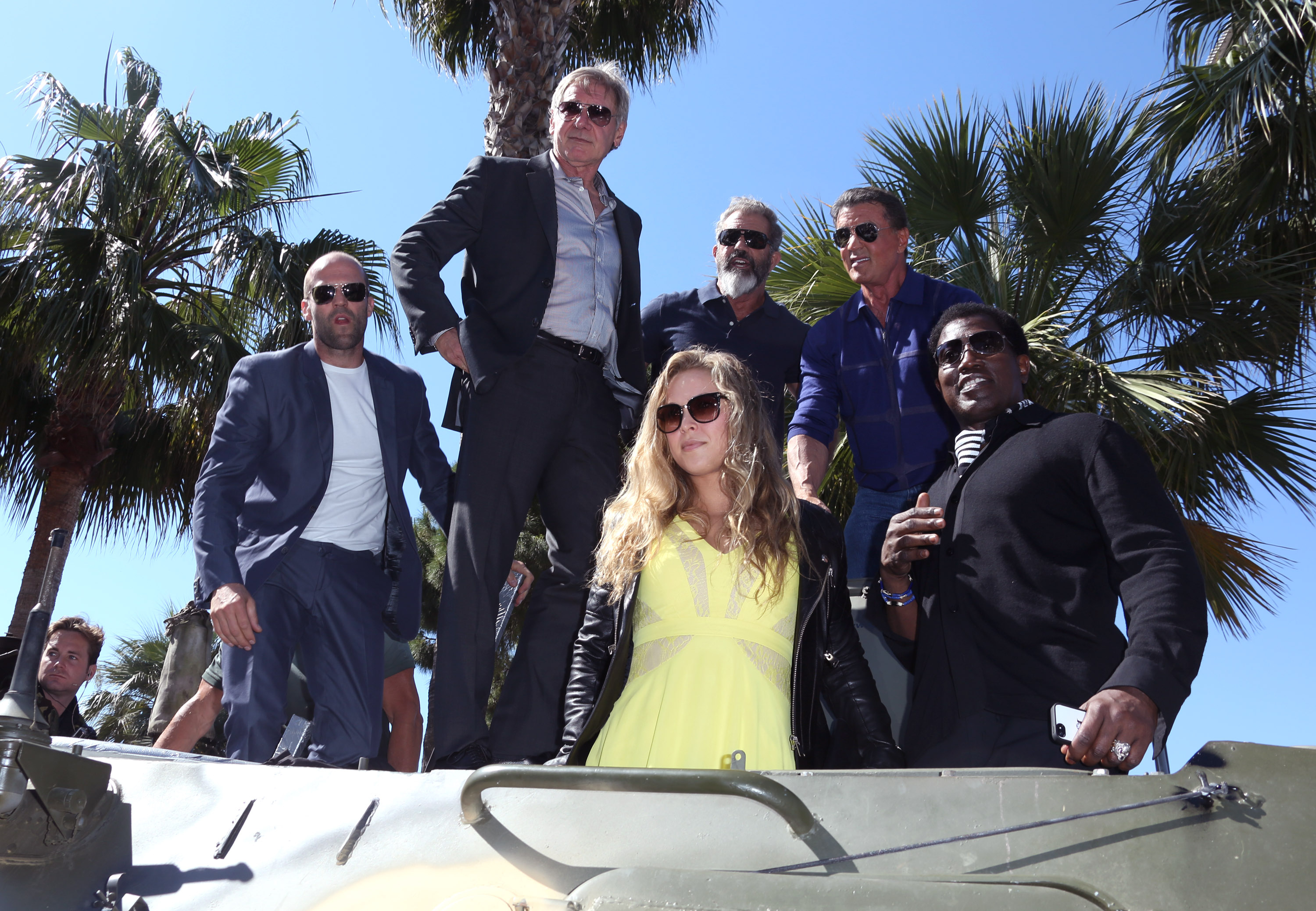 'The Expendables 3' Tank Stunt in Cannes