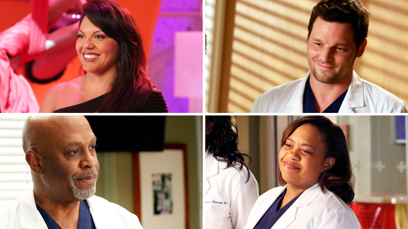 Grey's Anatomy Sara Ramirez Chandra Wilson James Pickens Jr. Justin Chambers Split - H 2014