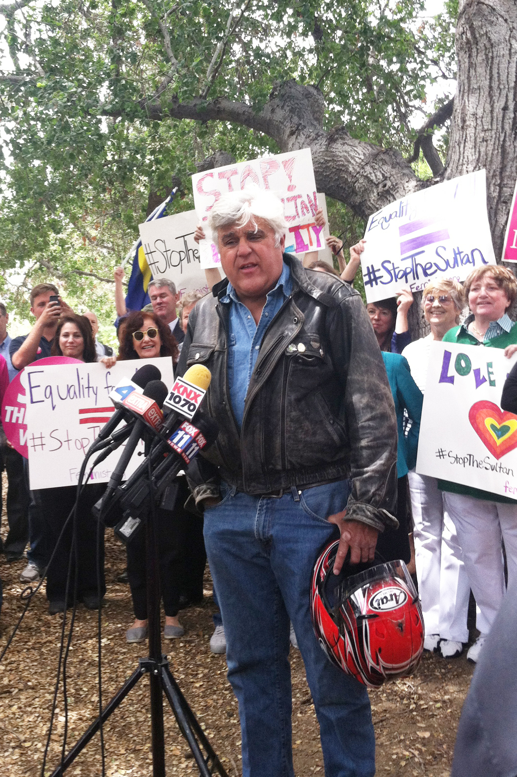 Jay Leno Beverly Hills Hotel Protest - P 2014