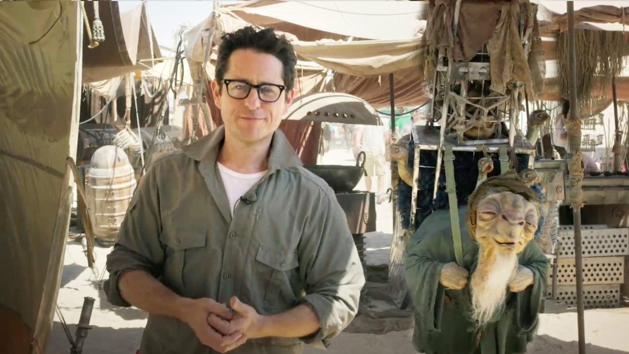 J.J. Abrams on set Star Wars: Episode VII - H 2014