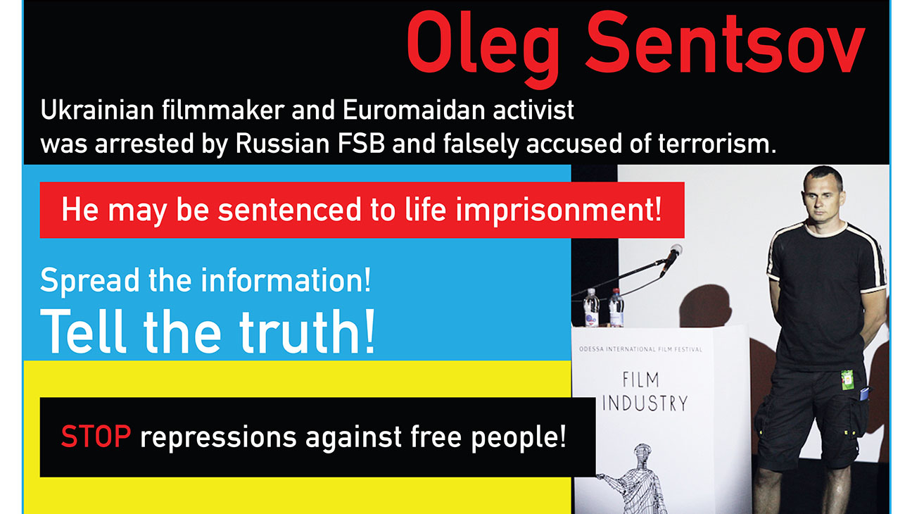 Oleg Sentsov Poster - H 2014