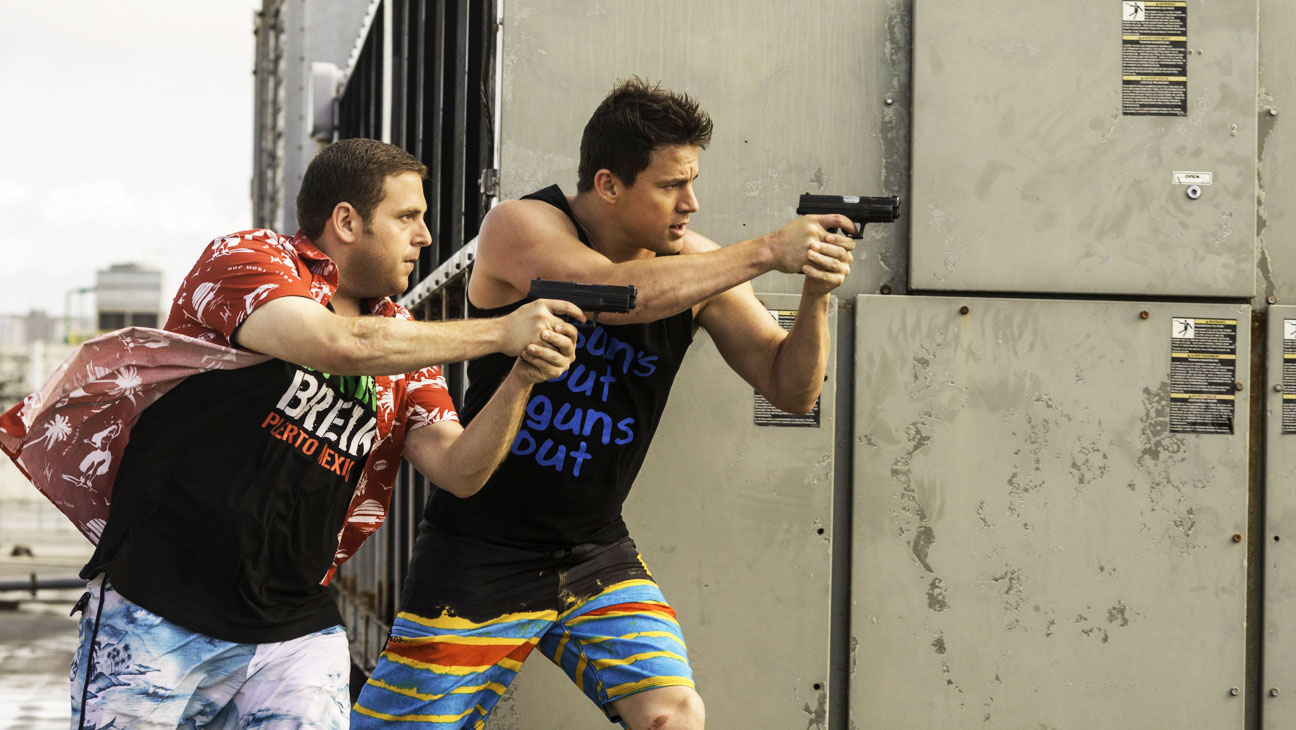 22 Jump Street Still Hill Tatum with Guns - H 2014