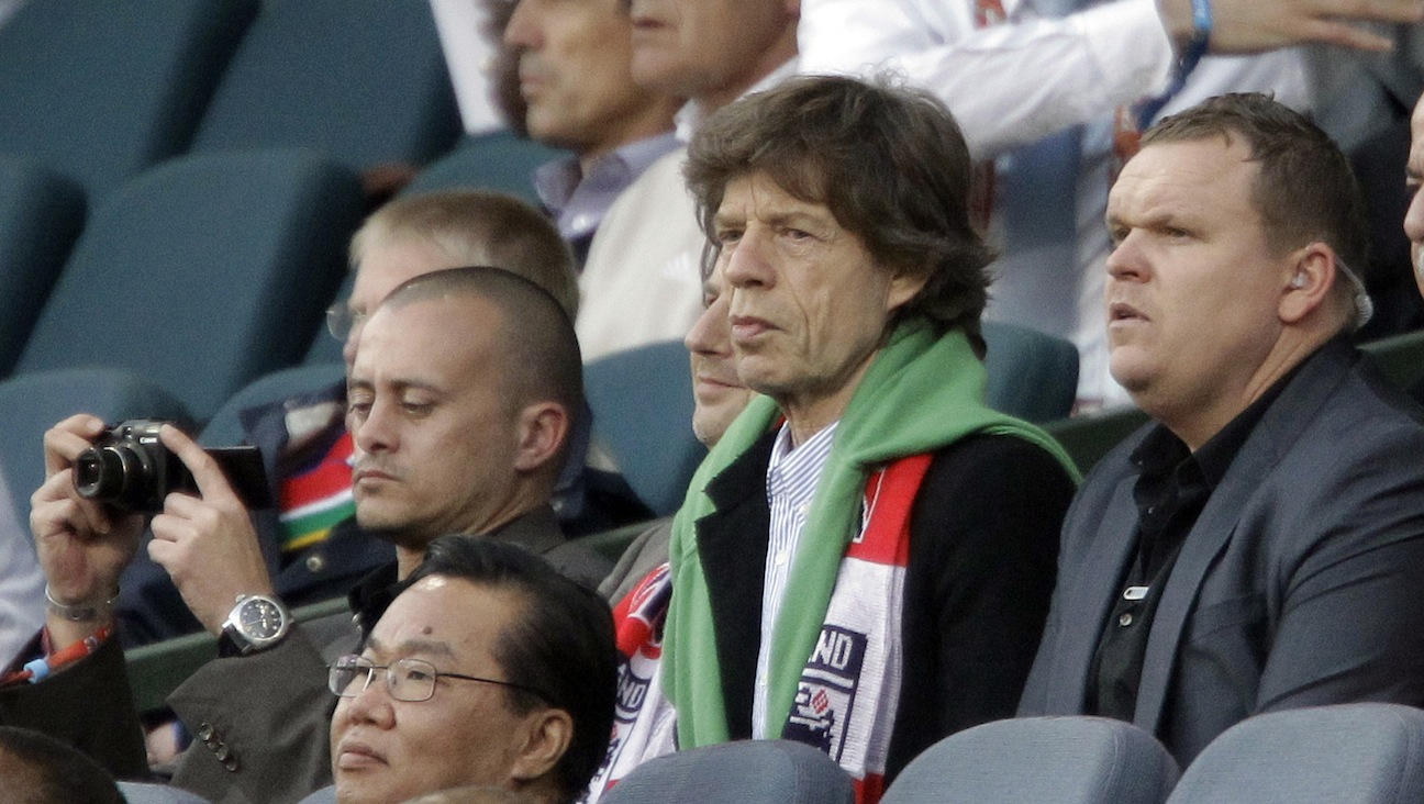 Mick Jagger at the World Cup - 2010