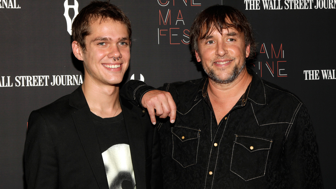 Richard Linklater Ellar Coltrane at Boyhood Premiere - H 2014