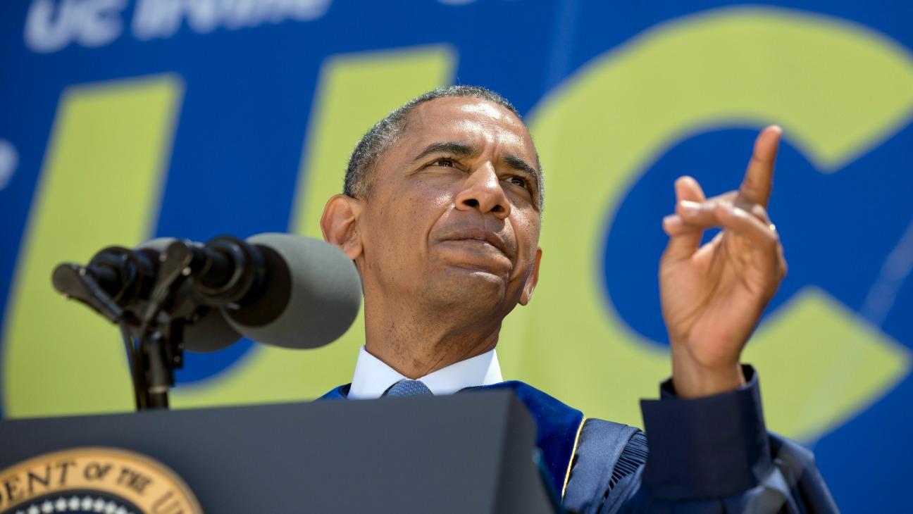 Barack Obama Irvine - H - 2014