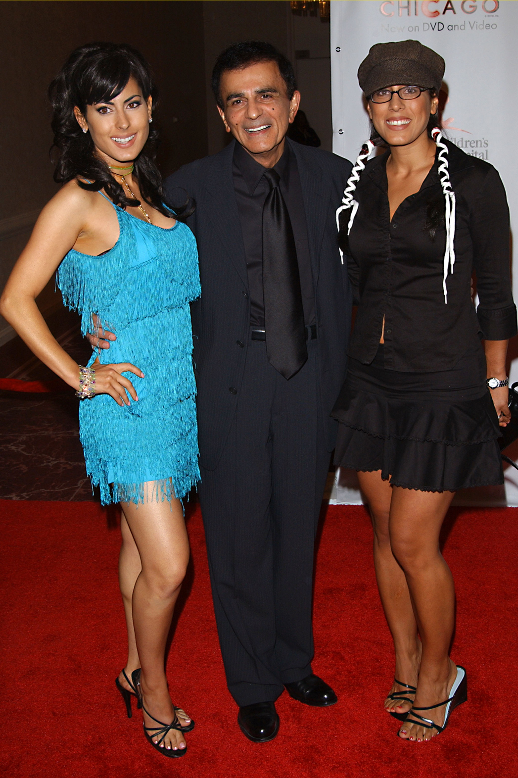 Casey Kasem with daughters Kerri and Julie 2003 P