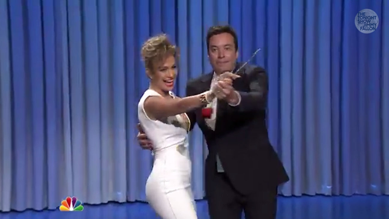 Jennifer Lopez Jimmy Fallon Dance - H 2014