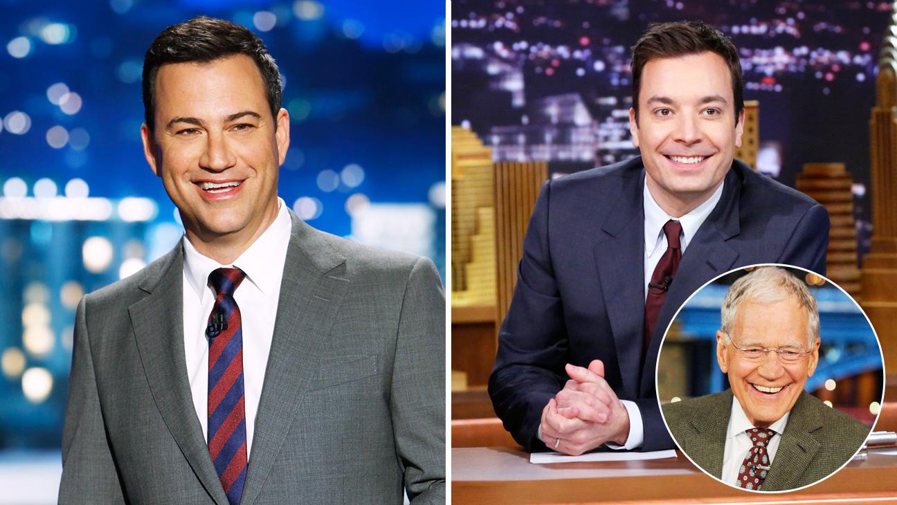 Jimmy Kimmel Jimmy Fallon David Lettermen Inset - H 2014