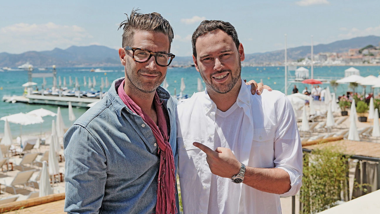 Scooter Braun and Pelle Sjoenell - P 2014