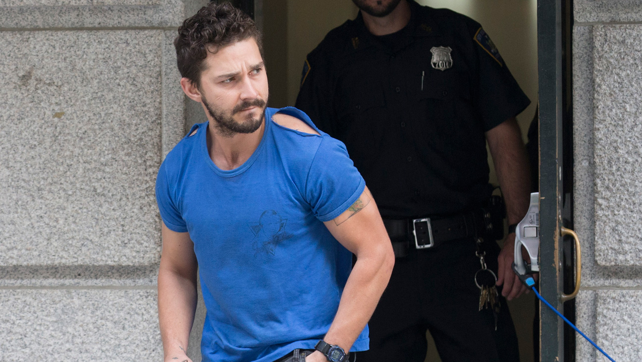 Shia LaBeouf Walking out of Court House - H 2014