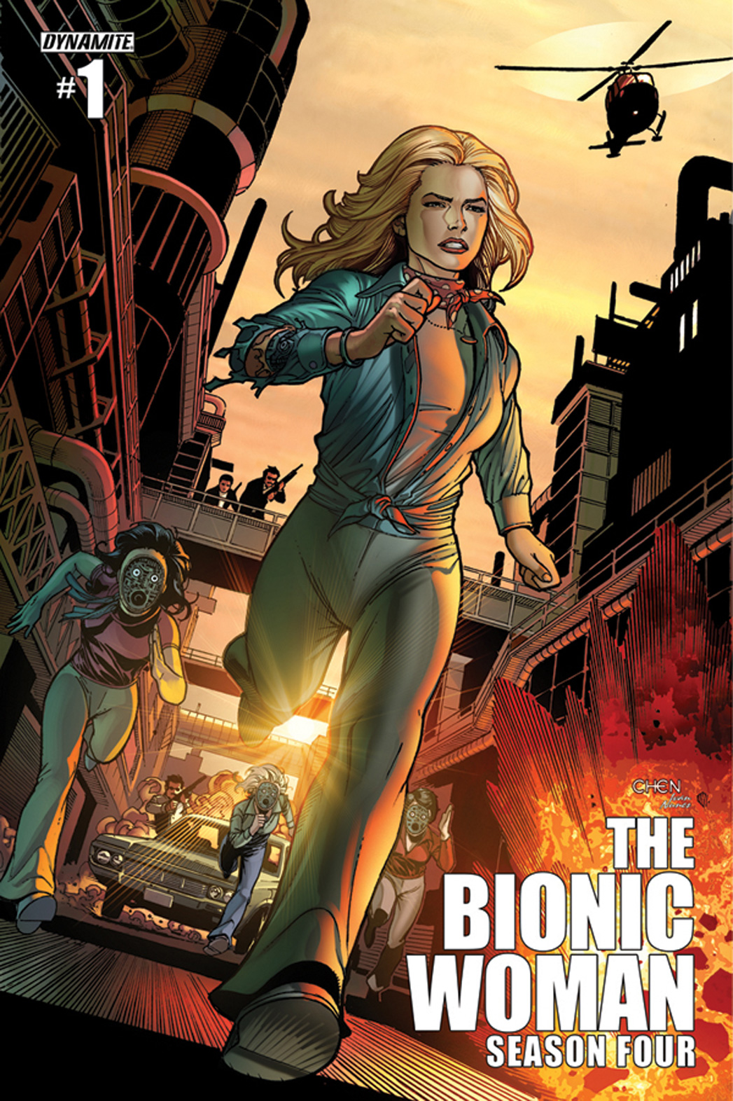 The Bionic Woman 1 Cover - P 2014