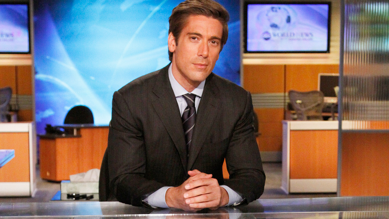 David Muir ABC News Anchor Desk - H 2014