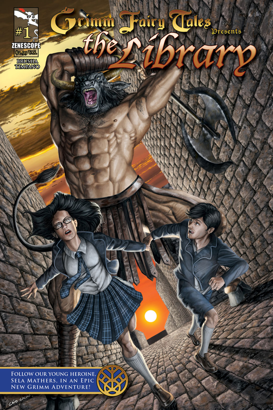Grimm Fairy Tales Library Cover - P 2014
