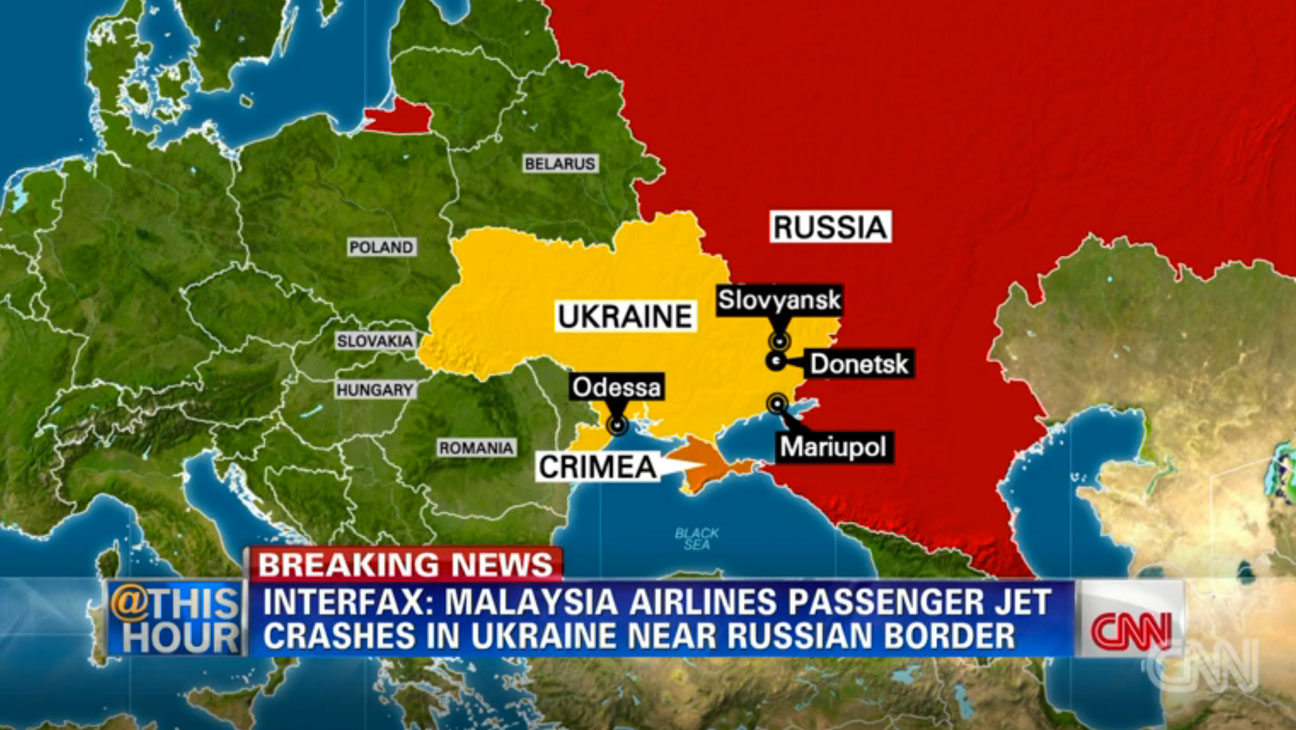 Malaysian Airlines Ukraine Map - H 2014