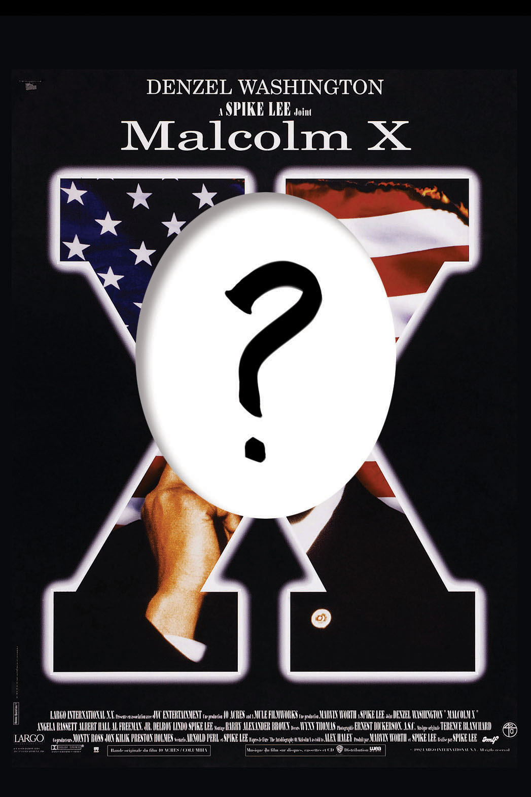 Malcom X Denzel Washington Poster Question Mark - P 2014