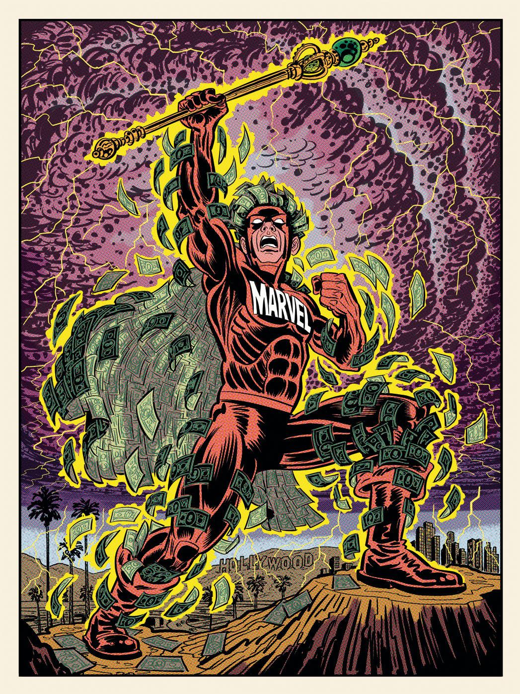 <p>Marvel Man Illustration - P 2014</p>