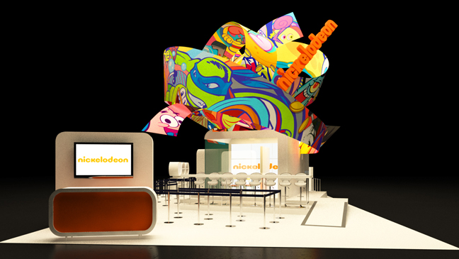 Nickelodeon Comic-Con 2014 Booth Rendering - H 2014