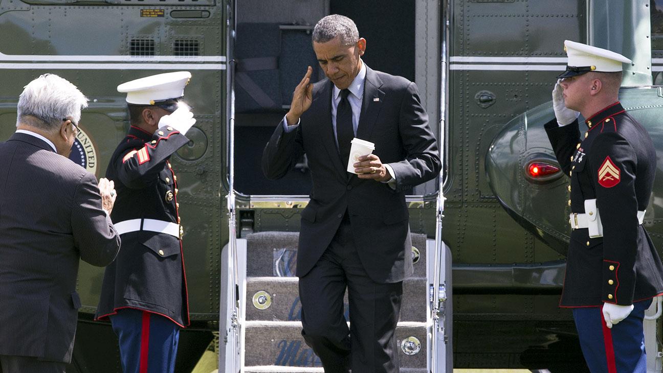 Barack Obama West Coast - H 2014