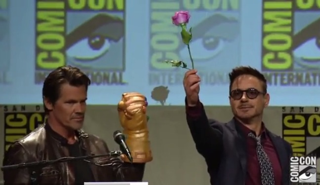 Josh Brolin and Robert Downey Jr. at Comic-Con - H 2014