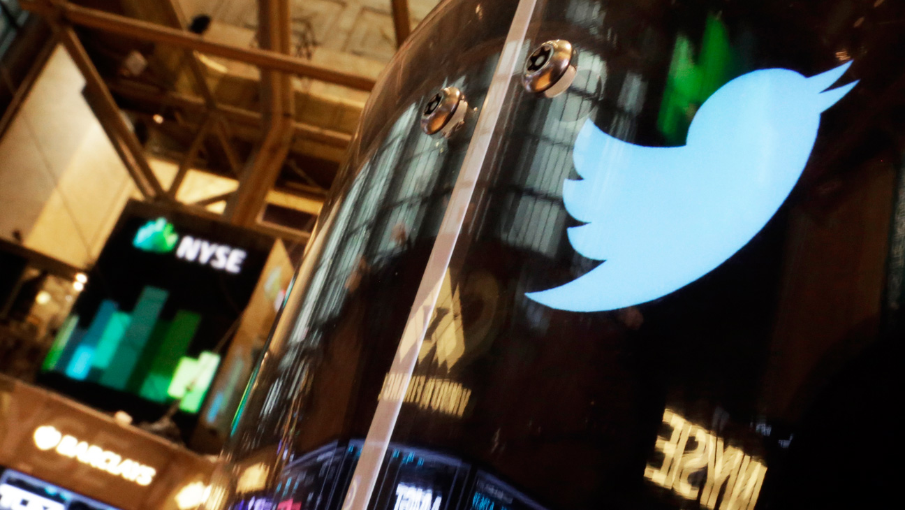 Twitter Logo on Wall Street - H 2014