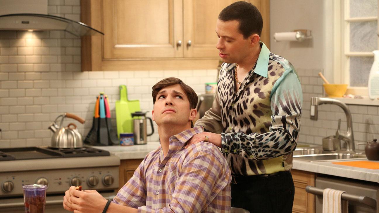 Two and a Half Men Jon Cryer Ashton Kutcher - H 2014