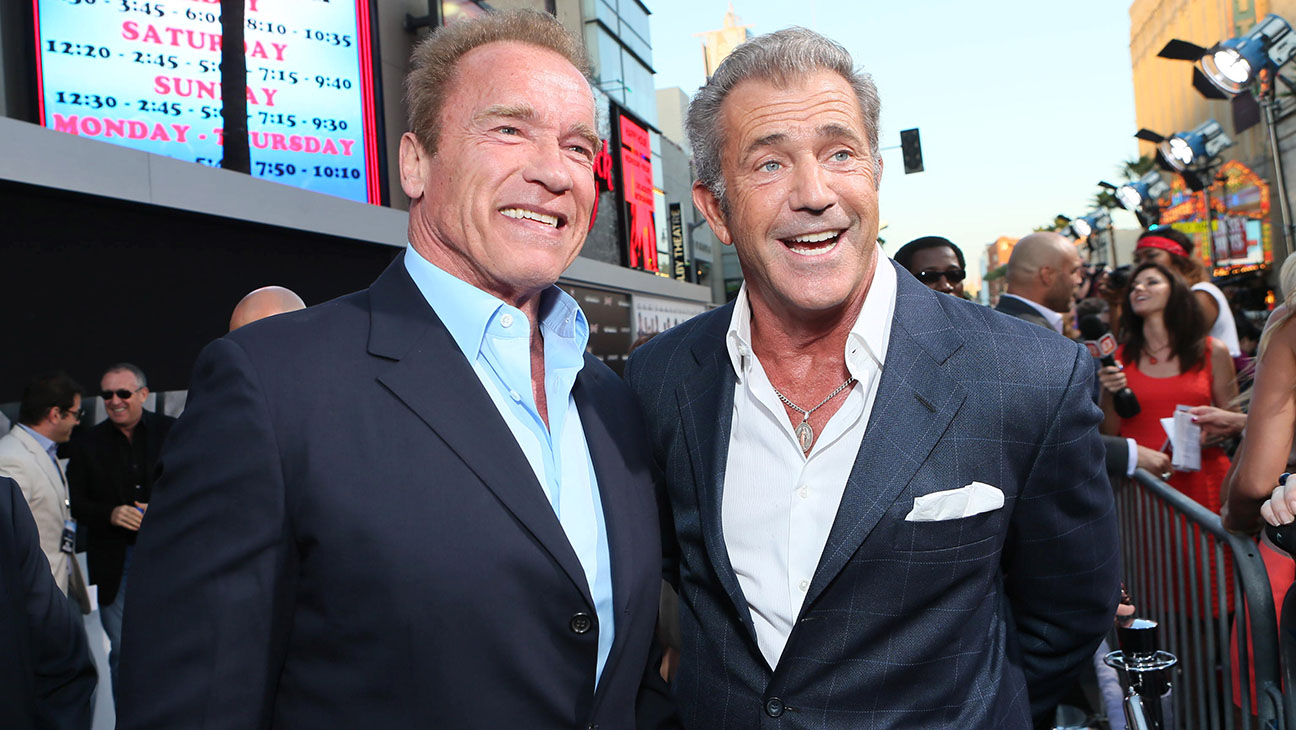 The Expendables 3 Premiere Harrison Ford Mel Gibson Ronda Rousey Rock L A Hollywood Reporter