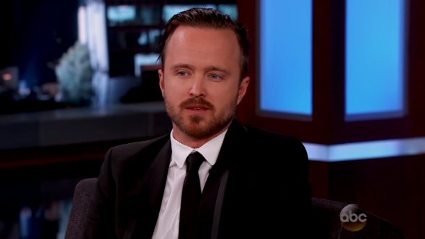 Aaron Paul on Kimmel -  H 2014
