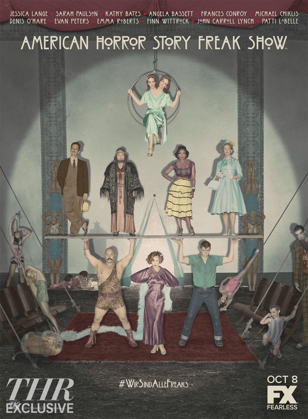 AHS Freak Show Cast Art - P 2014