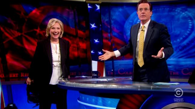 Hillary Clinton Stephen Colbert - H 2014