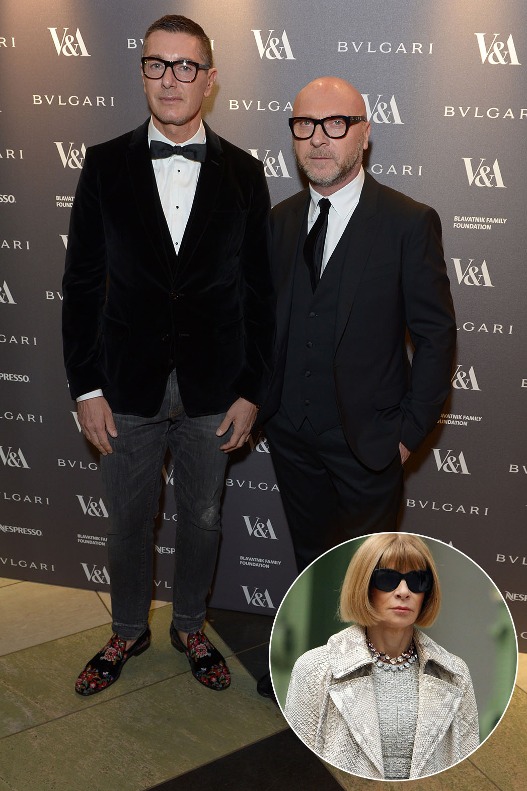 Dolce and Gabbana Anna Wintour Inset - P 2014