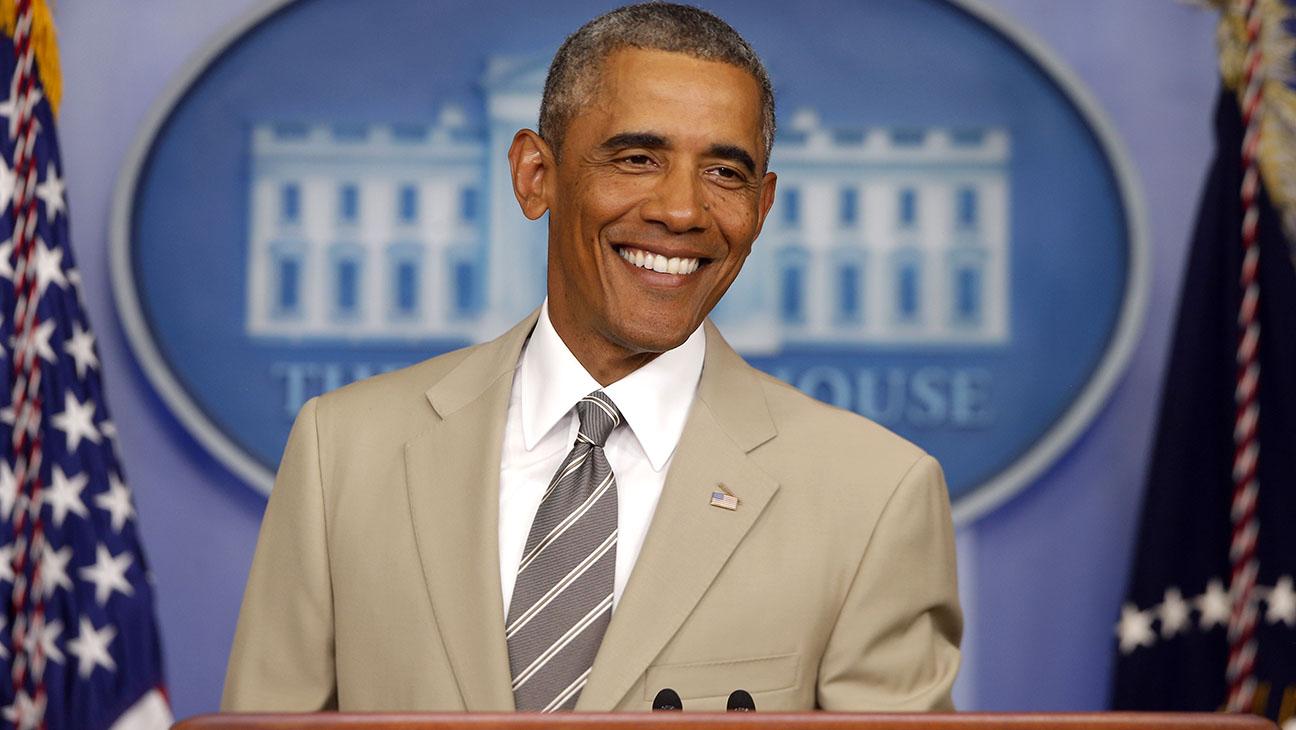 Obama Khaki Suit - H 2014