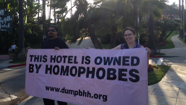 Beverly Hills Hotel Protest Aug 8 - H 2014