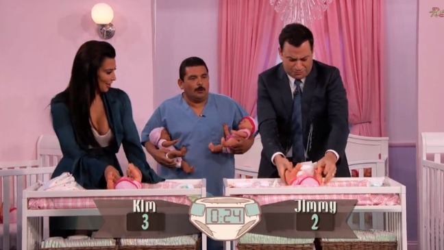 Kim Kardashian Jimmy Kimmel Diaper Contest Still - H 2014