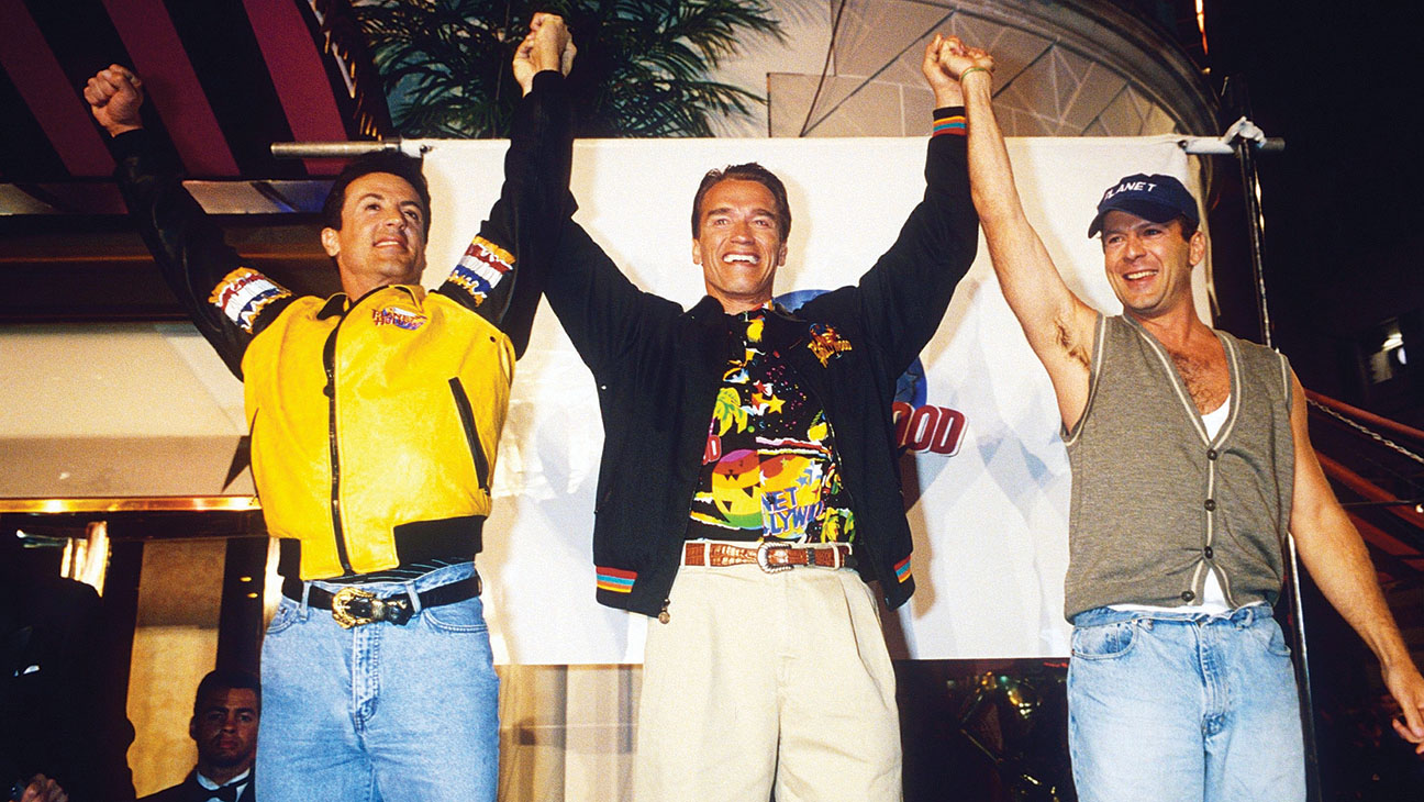 Stallone Schwarzenegger Willis Planet Hollywood Throwback - H 2014