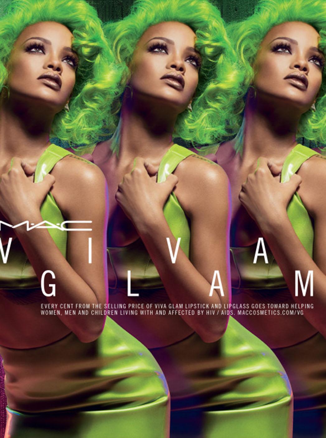 Rihanna's MAC Viva Glam campaign - P 2014