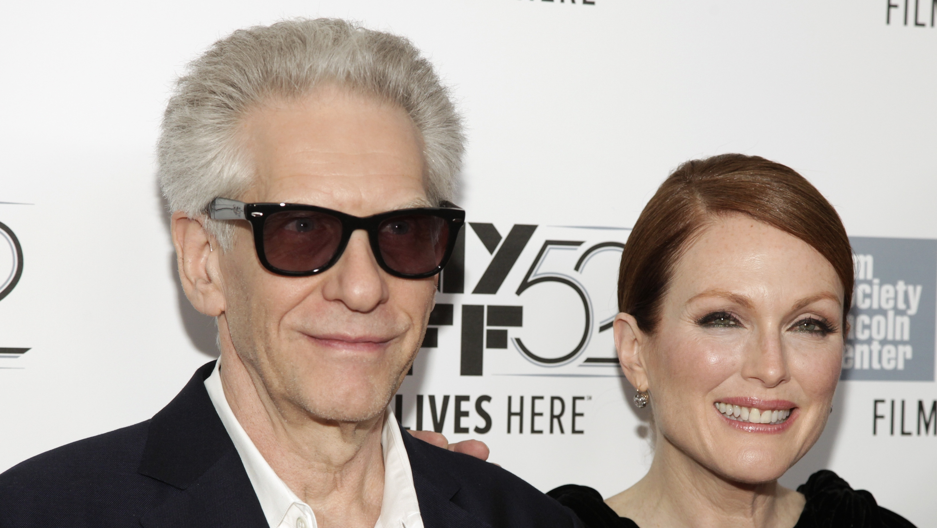 David Cronenberg and Julianne Moore at 'Maps to the Stars' NYFF Screening - H 2014