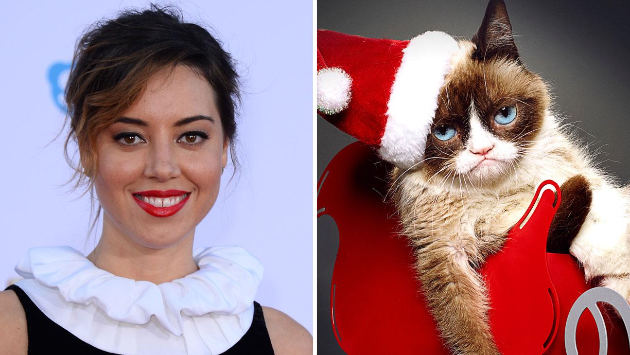 Aubrey Plaza Grumpy Cat Split - H 2014