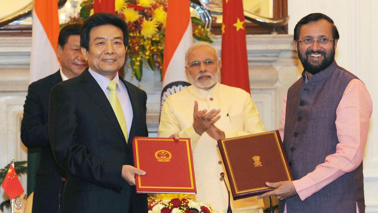 China India Treaty Signed - H 2014