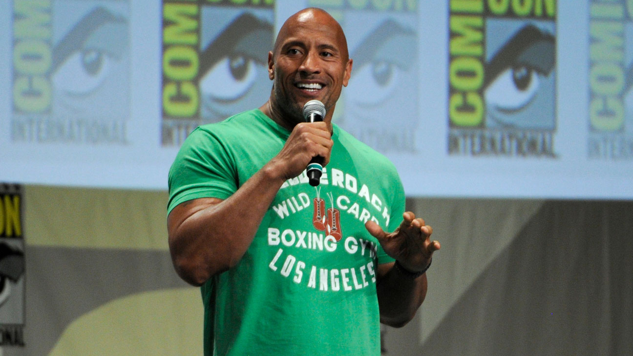 Dwayne Johnson Comic Con - H 2014